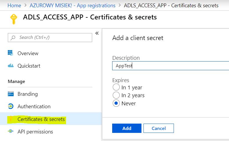 Uploading files to Azure Data Lake Storage Gen2 from